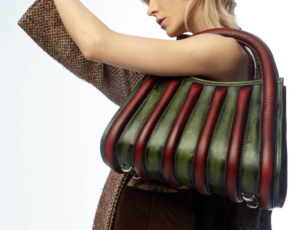 Harleq spine bag leather
