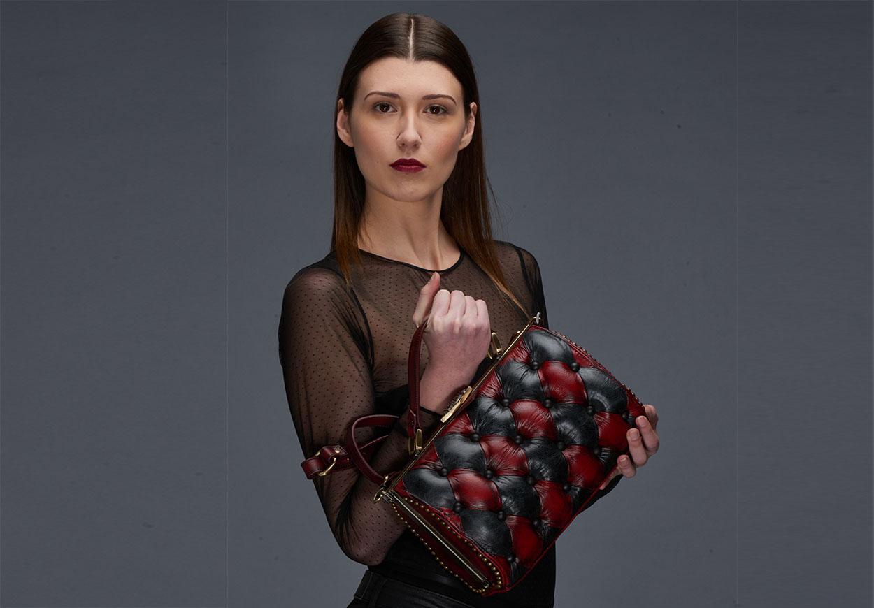 harleq bag luxury leather devil black
