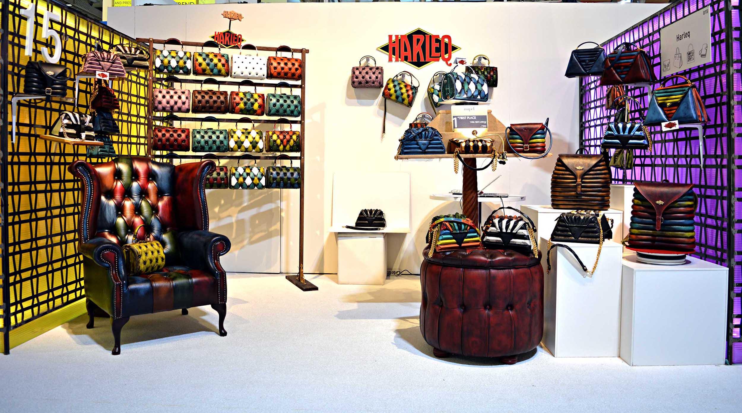 harleq luxury bags mipel tradeshow