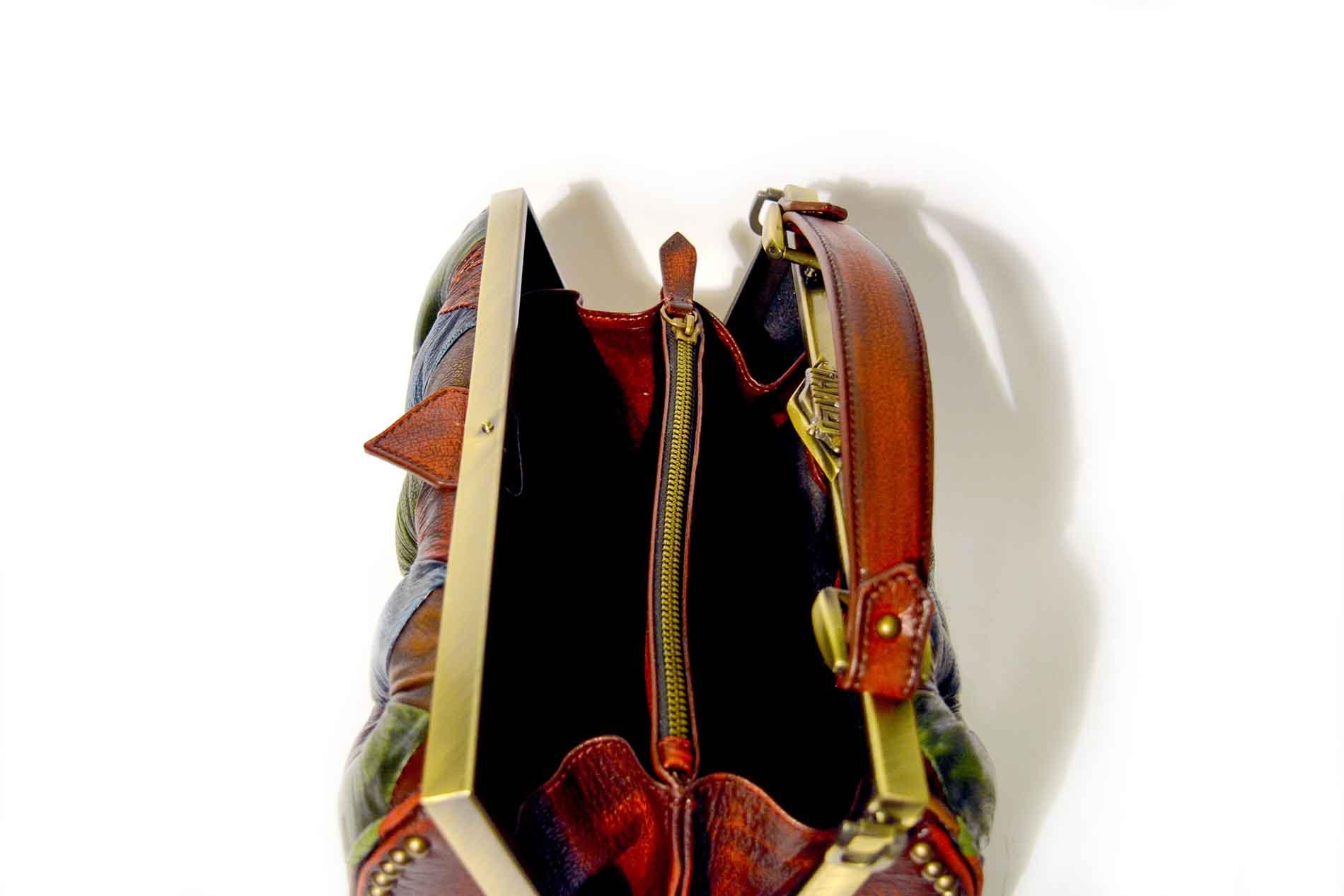 open bag leather harleq