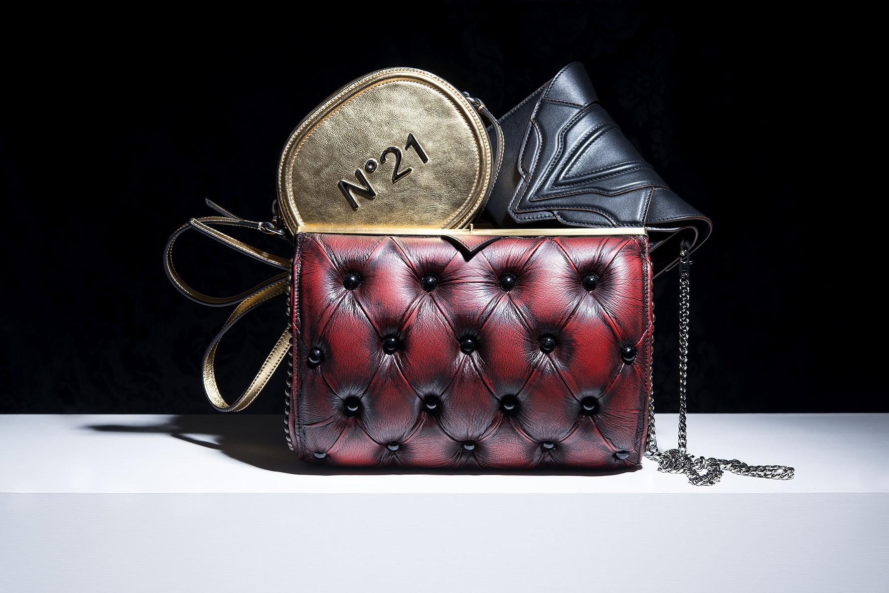 harleq bag red leather