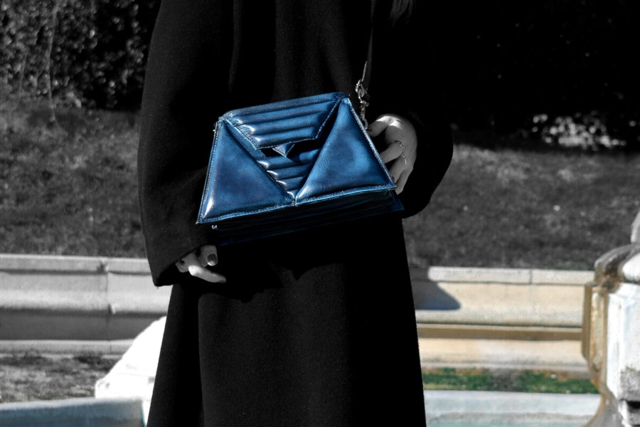 triangles bag luxury leather made in italy