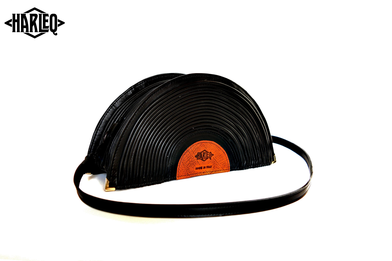 Harleq LP disk vinyl leather Bag