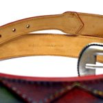 belts handmade in italy multicoloured patchwork leathers
