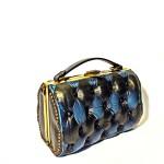 black blue vintage bag