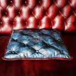 blue-cushion-leather-pillow-chesterfield-buttons