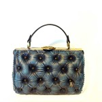 blue leather luxury bag