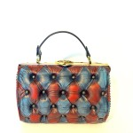 blue red harleq bag
