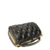 borsa nera vintage leather handbag