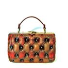 harleq bag brown red leathers