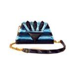 electric blu pochette harleq sphinx
