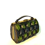green black chester bag