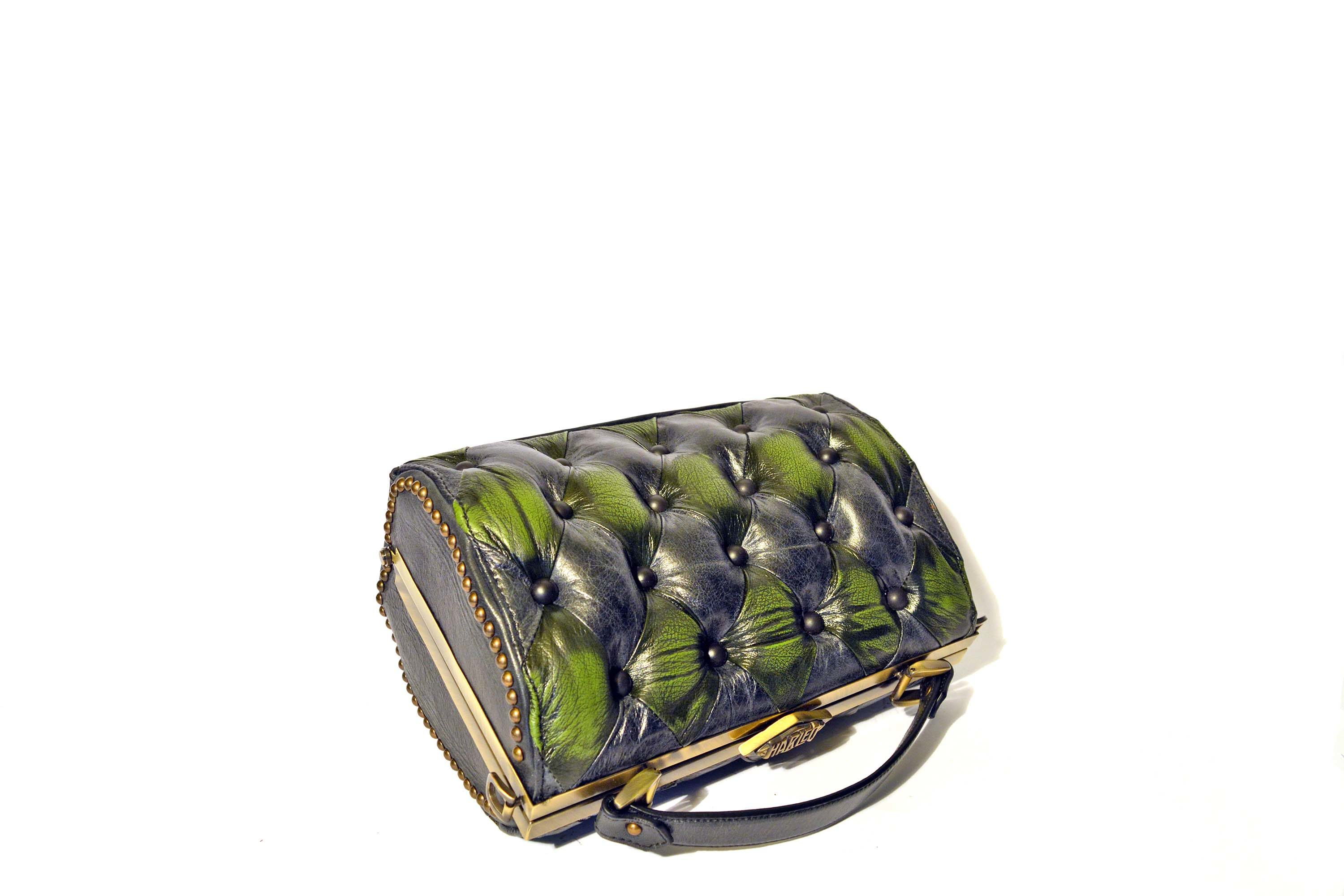 green-black-handbag