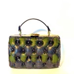 green black leather harleq bag