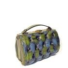 green blue vintage handbag