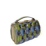 green blue vintage handbag