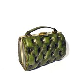 green leather vintage bag