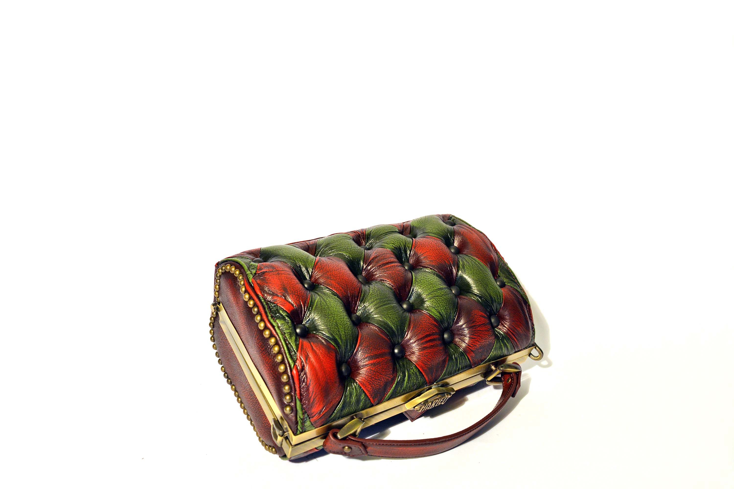 green-red-handbag-leather