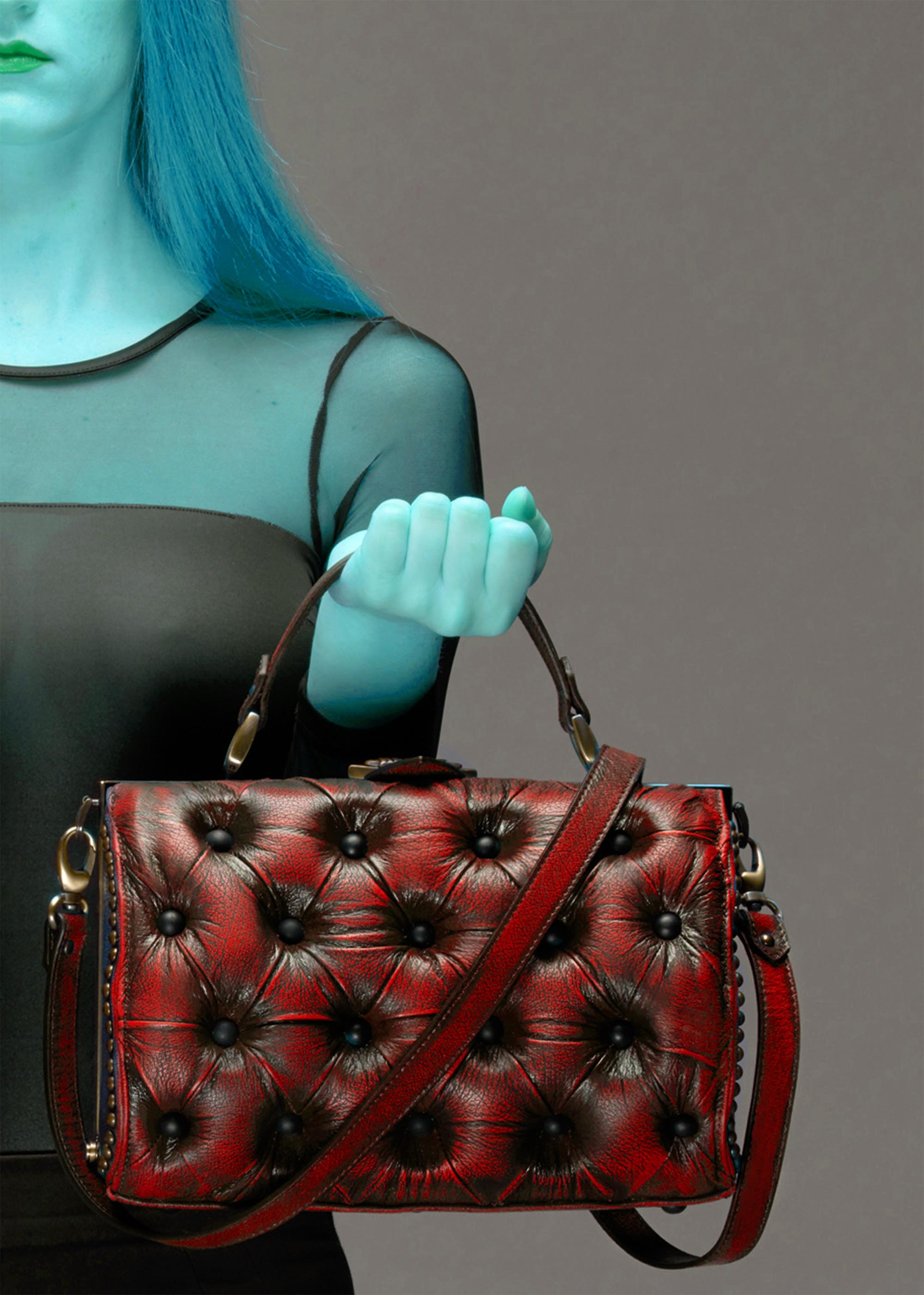 harleq bag leather red