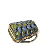 harleq chester bag leather green blue