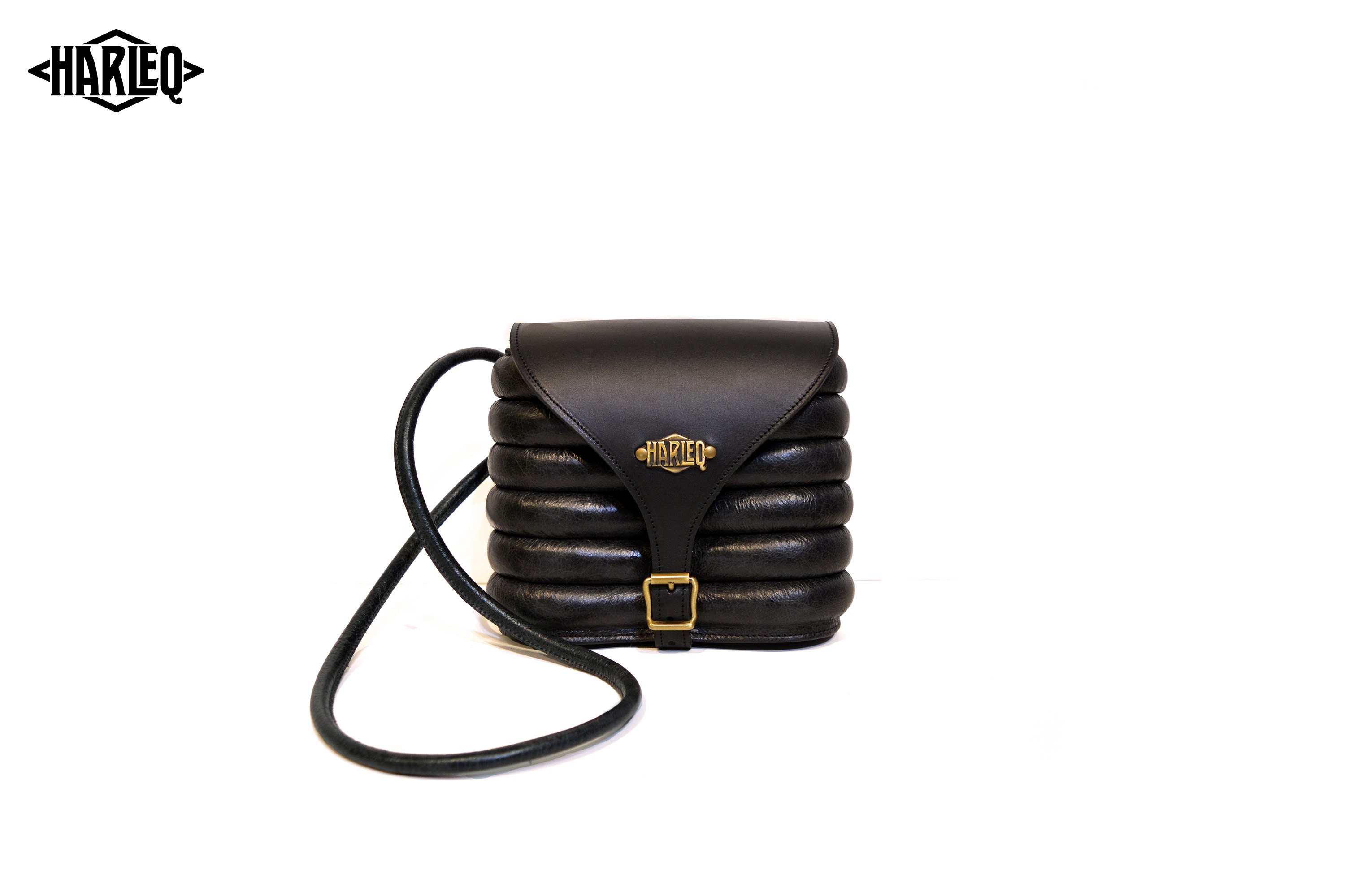harleq curvy pochette black leather