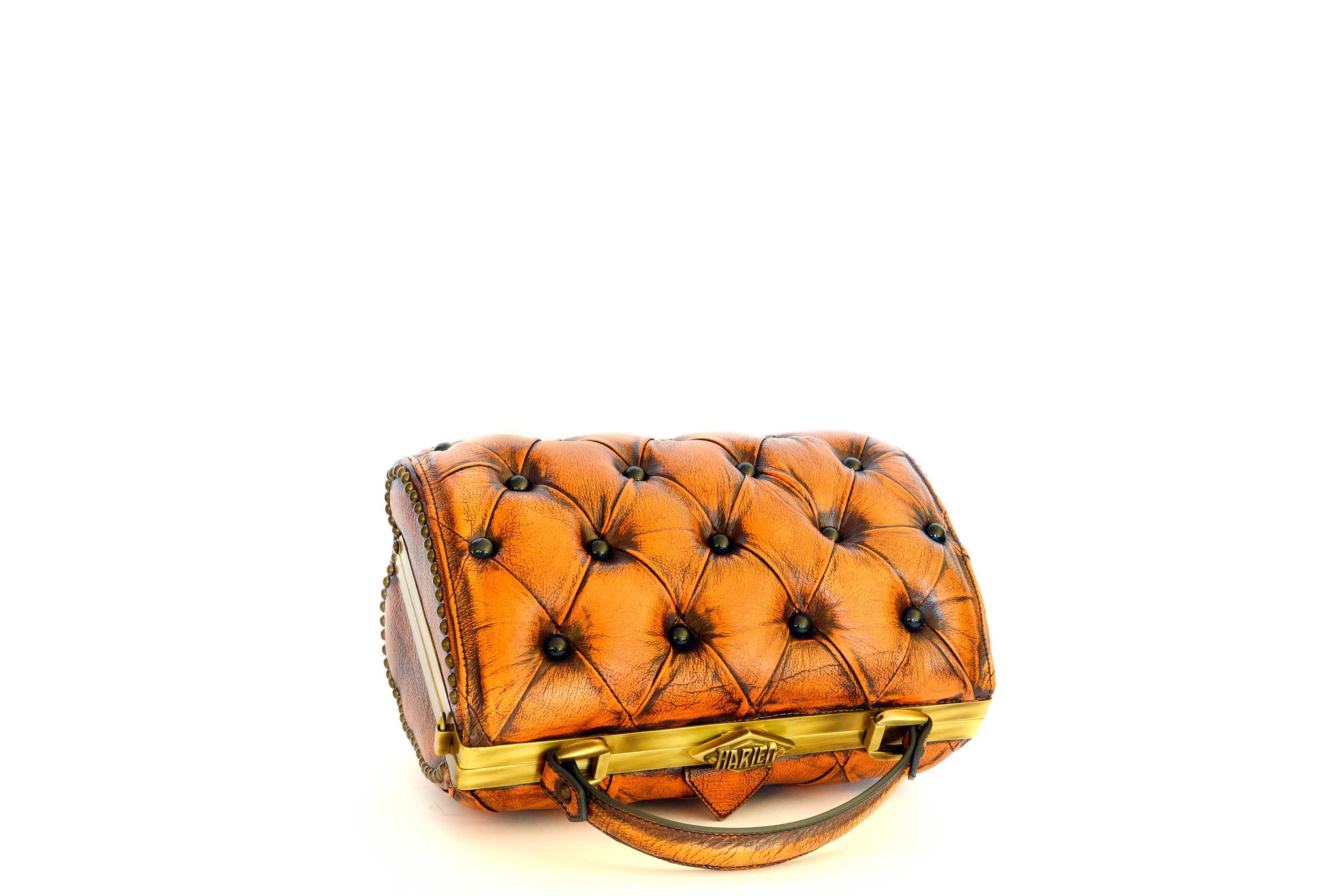 harleq-orange-leather-bag