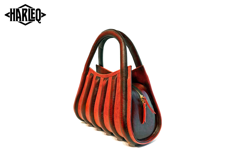 harleq the spine red luxury bag