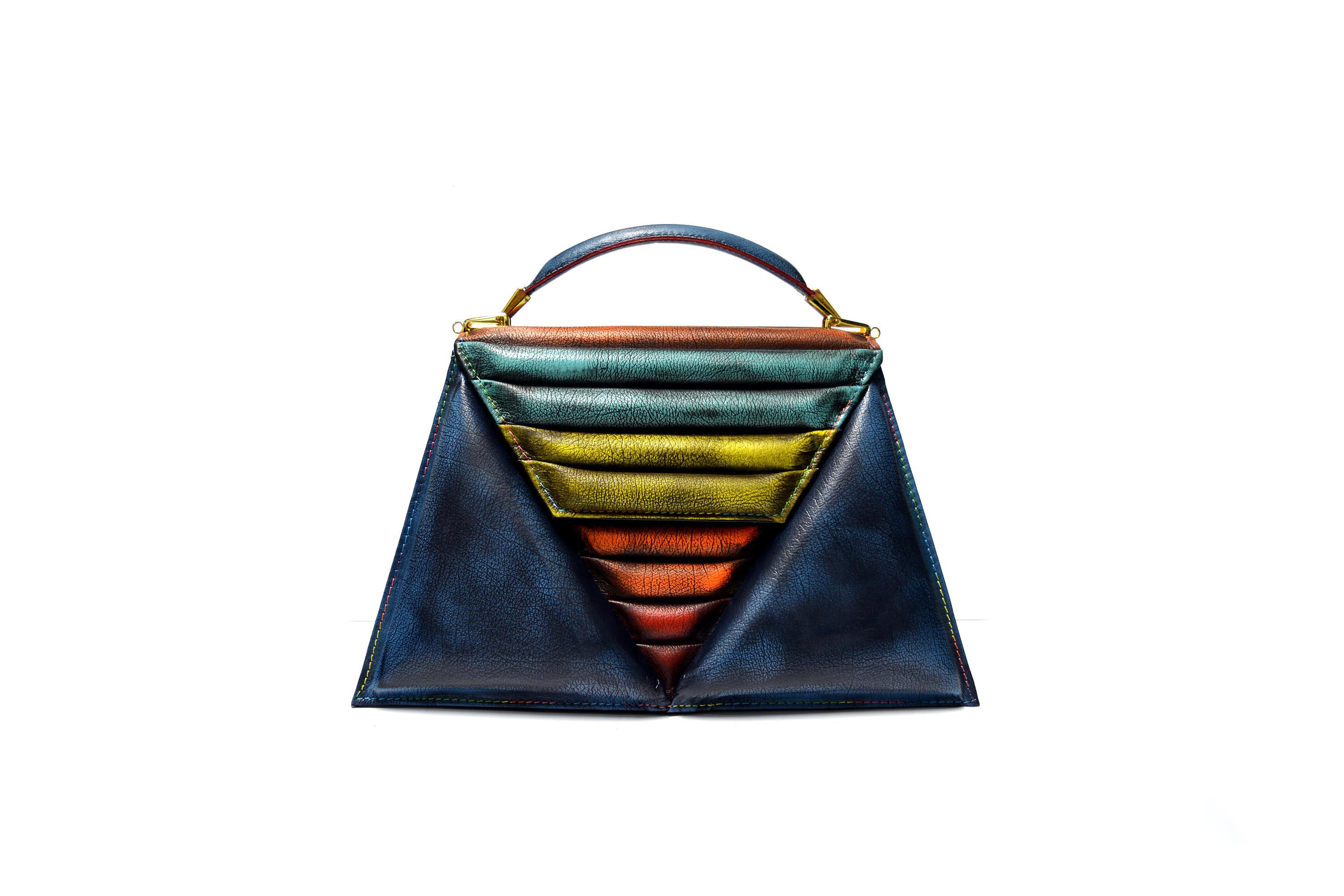 harleq triangles bag-multicolour patchwork