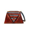 harleq triangles bag red blue leathers
