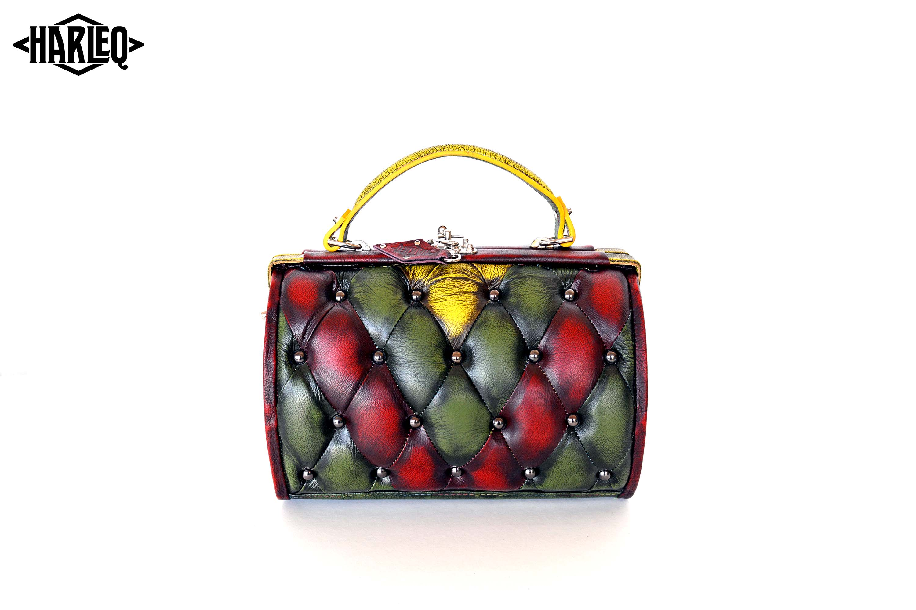 harleq-trunk-red-green-yellow-leather