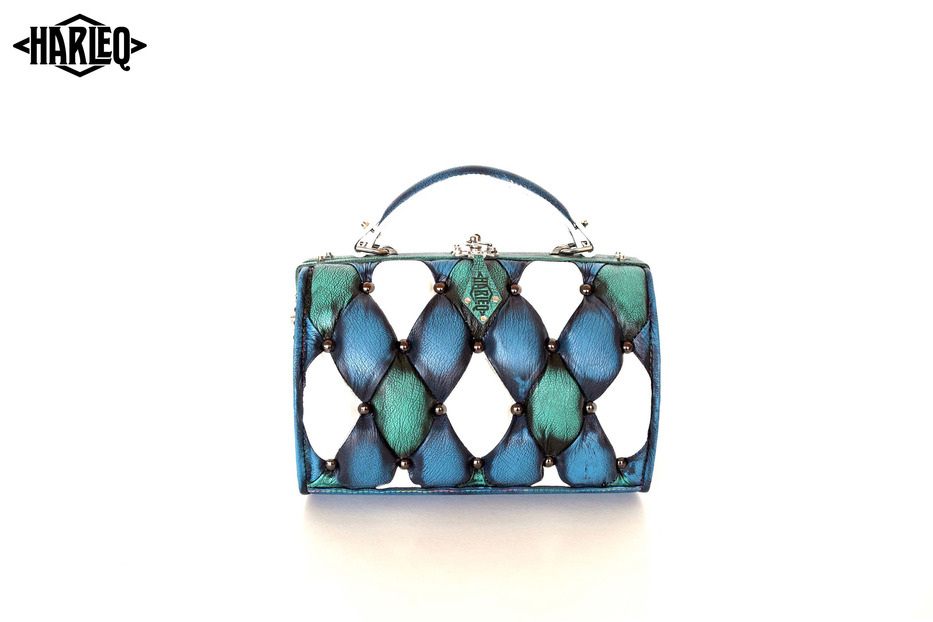 Harleq Trunk Turquoise Leather 3