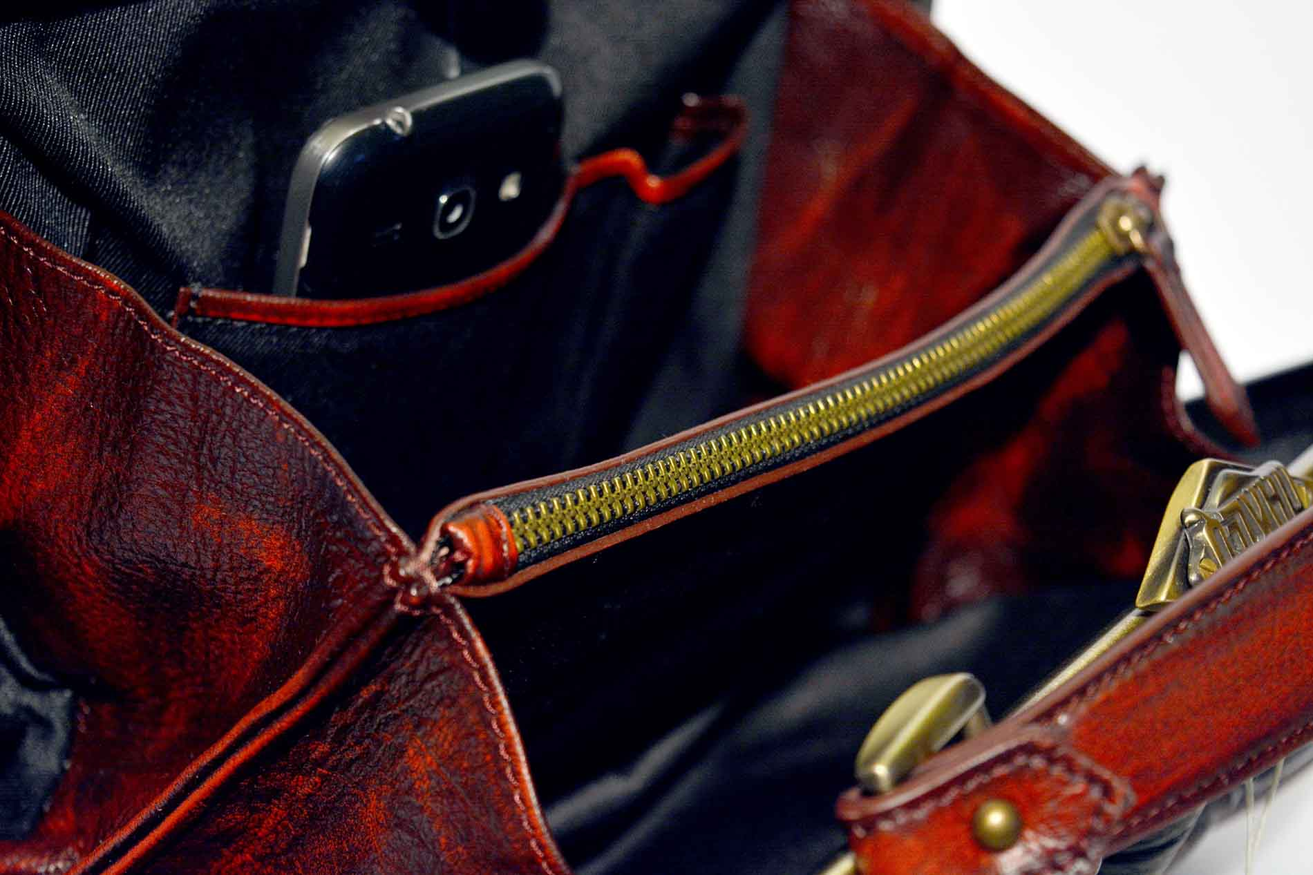 leather interior bag harleq
