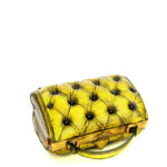 harleq luxury yellow vintage leather bag