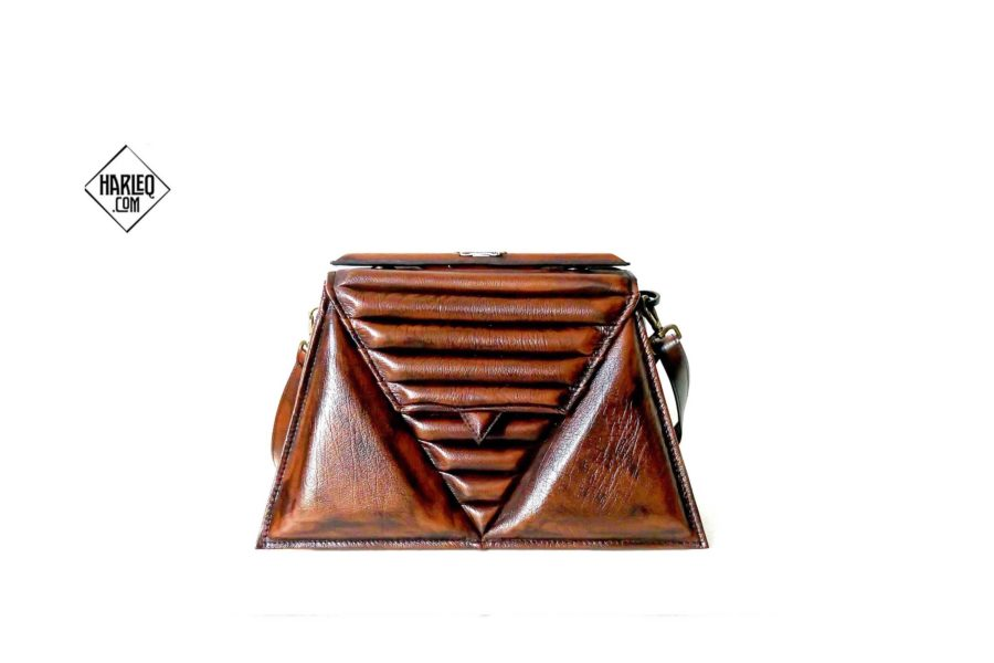 luxury-brown-harleq-triangle-bags