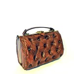 luxury brown leather bag