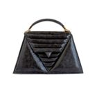 luxury-handbag-harleq-black-leather-triangles-front