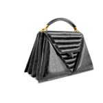 luxury-handbag-harleq-black-leather-triangles-side