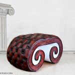 modern design foot table stool harleq ionic luxury