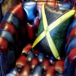 jamaican leather flag cushion pillow