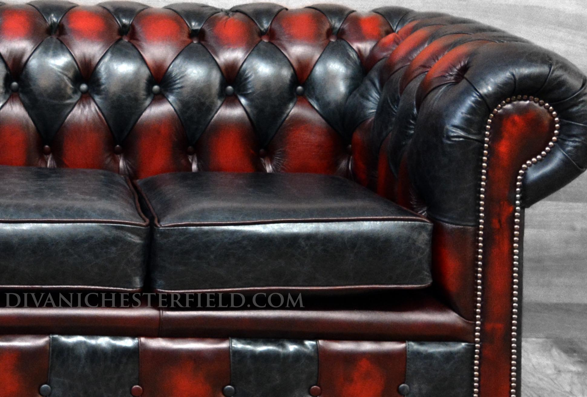 red-black-patchwork-leather-sofa