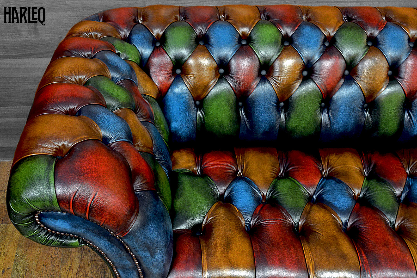 luxury patchwork leather chesterfield