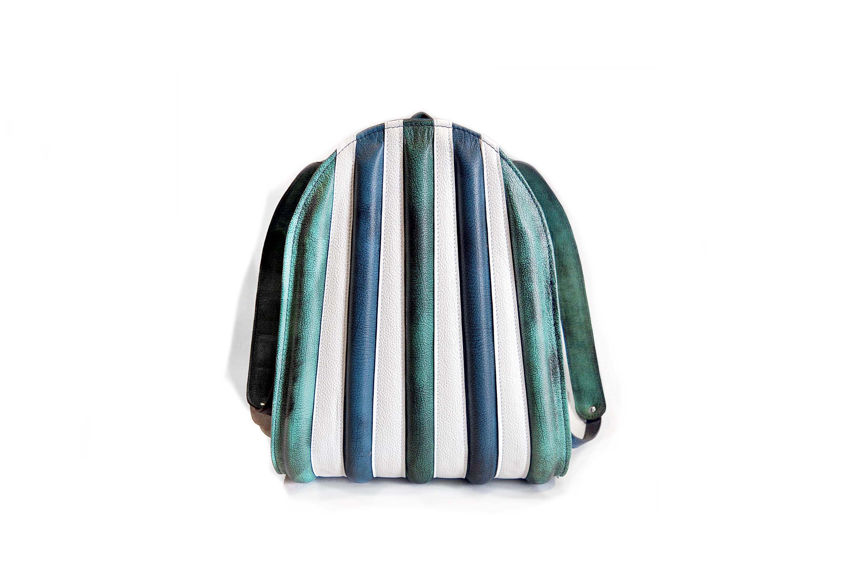 summer backpack turquoise blu leathers harleq
