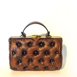 vintage brown leather handbag
